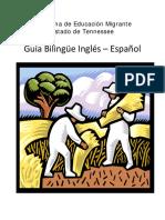 Guía bilingüe inglés-español.