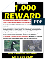 Reward Poster Castle Hills Animal Killer 7.23.2020