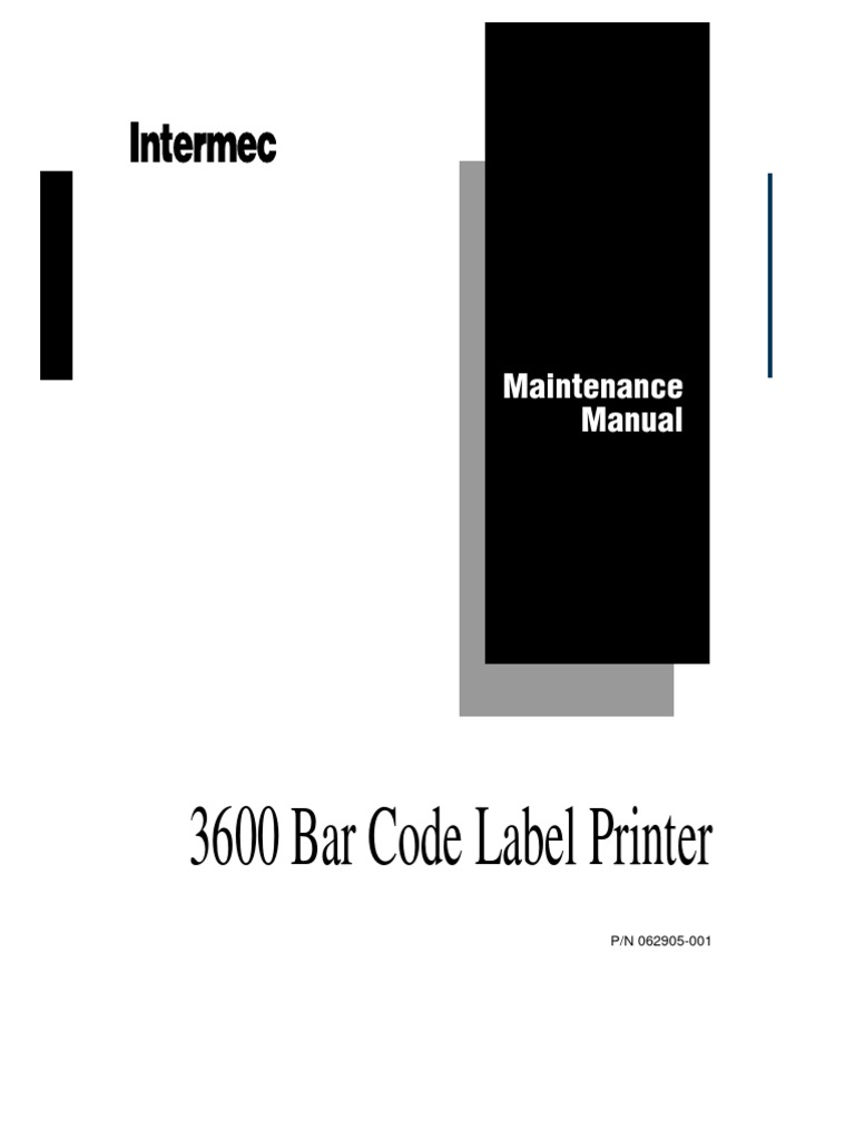 Intermec 3400-3600 Service Manual | Printer (Computing) | Troubleshooting