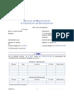 Contrat-type de maintenance CLIMATISATION
