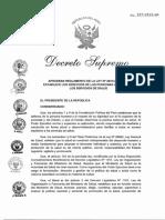 DECRETO_SUPREMO_027-2015-SA (REglamento de la Ley 29414)