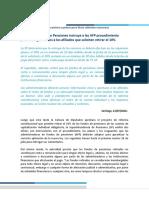 Instructivo Superintendencia de Pensiones a AFP por retiro de 10%