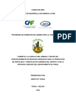 Proyecto Agricultura Orgánica
