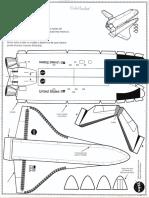modelo prototipo  trasbordador espacial