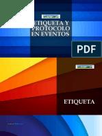 ETIQUETA Y PROTOCOLO EN EVENTOS