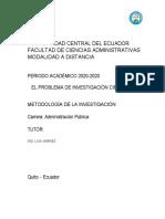 1STEFANY ARCOS - METODOLOGIA ADP001-PROBLEMA DE INVESTIGACION 1.docx