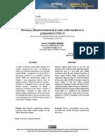Biocracia y Derecho Fundamental Al Nuevo Orden Mundial en La Postpandemia COVID-19