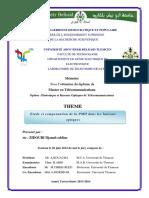 Etude et compensation de la PMD dans la fibre optique.
