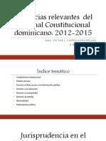 Jurisprudencia del Tribunal Constitucional dominicano - VJCP 2015