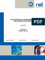 Tuv Nel - Evaluation of Roxar Mpfm2600 Multi Phase Flowmeter