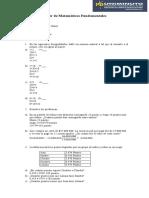 Taller - Matematicas Fundamentales