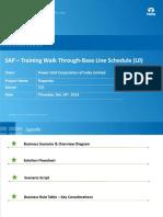4 - Base Line Schedule