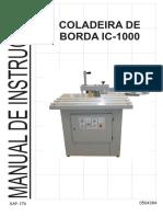 05040384 - Manual Coladeira de Borda IC-1000 (Egurko) 04 (Série 0291-0650) - SAP 176 (1)