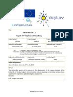 Informe de tercera despliegue Caso de uso Universidad de Plovdiv Bulgaria (06-01-2010)