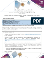 Unit 1_Phase 2_Recognition of the initial situation_Evaluation rubric