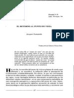 Fontanille, El Retorno Al Punto de Vista