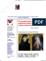 25 secretos para la guerra espiritual (Jesús los reveló a santa Faustina)