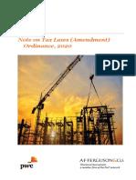 AFF's Note on Tax Laws (Amendment) Ordinance, 2020.pdf
