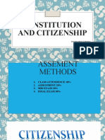 Constitution  And citizenship I