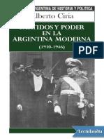 Partidos y poder en la Argentina moderna - Alberto Ciria.pdf