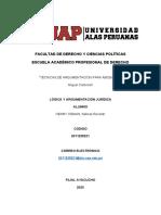 TÉCNICAS DE ARGUMENTACIÓN PARA ABOGADOS
