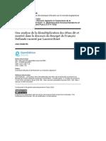 Rabatel, Alain (2020) - Une analyse de la démultiplication des éthos dit et montré dans le discours du Bourget de François Hollande raconté par Laurent Binet