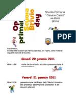 Volantino Open Day Brivio 2011
