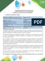 Syllabus del curso Educacion Ambiental.