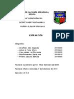 Informe Extracción
