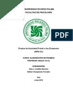 PROYECTO DE ELABORACIÓN DE PRUEBAS