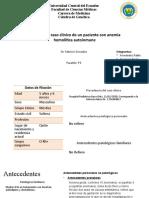 Caso clínico de genética Anemia hemolítica autoinmune