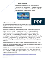 campiones hondureños  sara pastrana