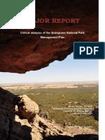Critical analysis of the Grampians National Park Management Plan