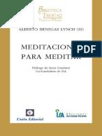 Alberto Benegas Lynch - Meditaciones para meditar