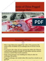 Case Analysis of China Pegged Exchange Rate