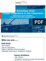 Corpus Linguistics in the classroom - D. McAllister - N. Wylie