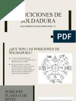 POSICICIONES DE SOLDADURA