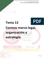 Tema 12  Correos marco legal, organización y estrategia copia