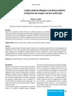 6 Literatura Villera la Escritura desde los Márgenes y las Nuevas Autorías