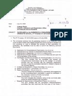 VPAA Office Memorandum No. 31, s. 2020