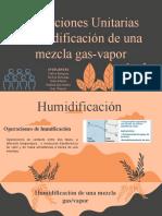 Humidificación de una mezcla gas-vapor (1)