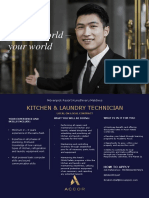 Flash Opportunity Kitchen + Laundry Technician