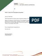Airport Services Description and Quotation