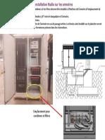 Installation des combiners et filtres dans les armoires Outdoor