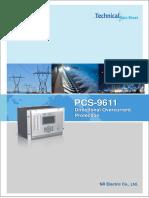 Data sheet - PCS-9611 Feeder Relay