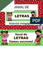 VARAL DE LETRAS - MATERIAIS PEDAGÓGICOS