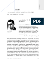 George Bataille – On His Shoulders (And Other Parts Of The Body Of Knowledge)