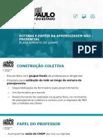 Rotinas e papéis dos professores PPT
