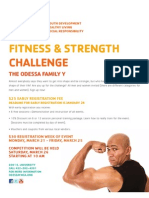 YMCA Fitness Contest Flyer