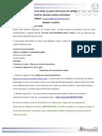 INSTRUCTIVO PARA CLASES VIRTUALES SEMANA 4   GRADO CUARTO ARTES